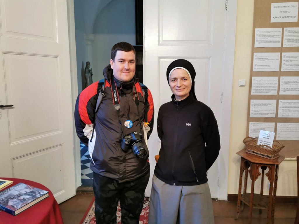 Zimowe wędrówki krajoznawcze - Adrian i s. Natanela